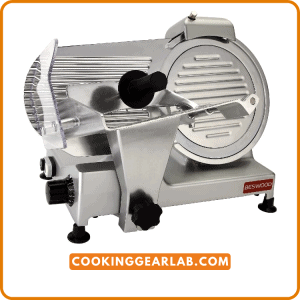 """BESWOOD 10"""" Premium Chromium-plated Carbon Steel Blade Electric Deli Meat Slicer"""