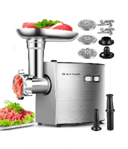 Electric Meat Grinder, CHEFFANO Stainless Steel (2000W Max)